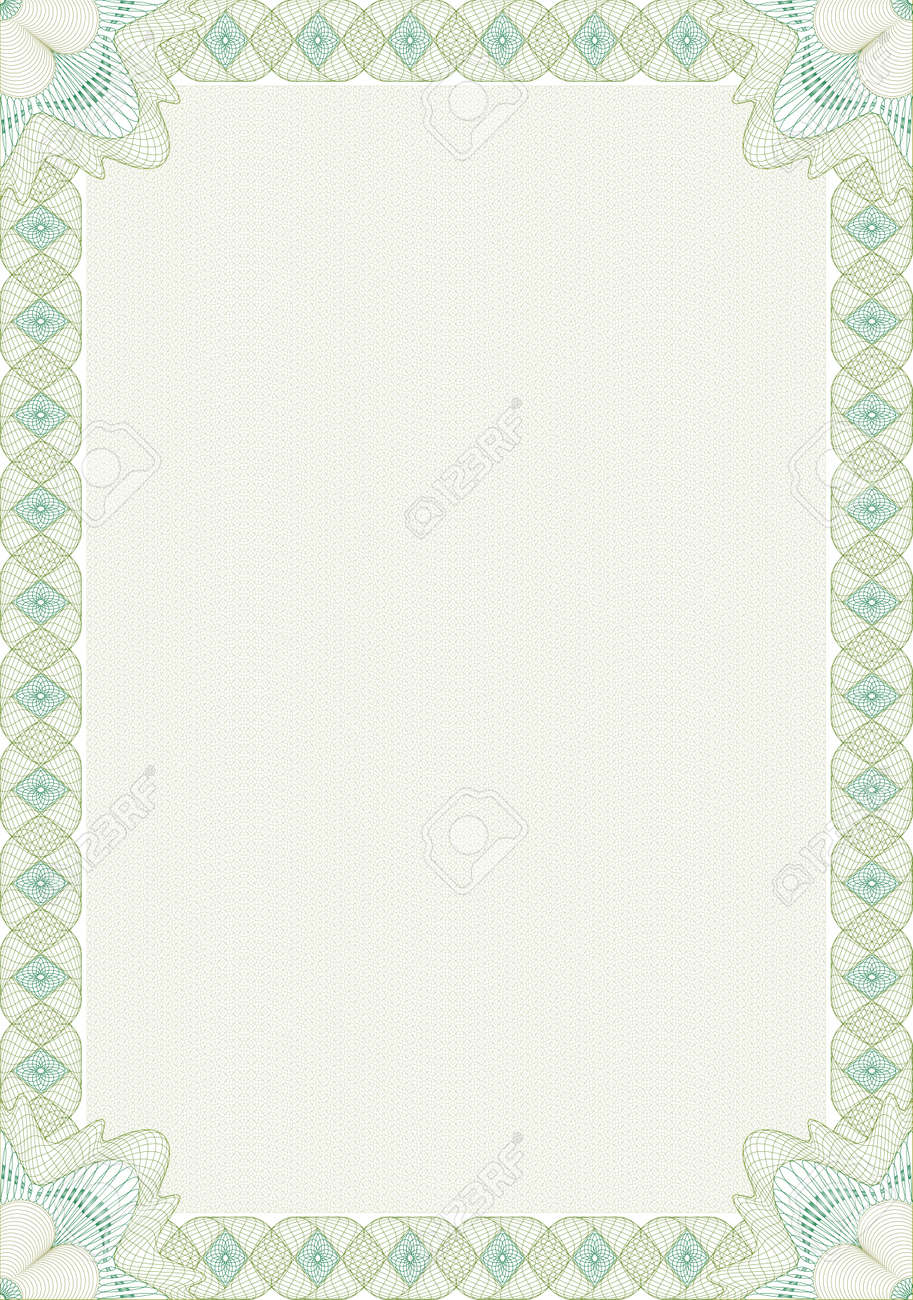 Guilloche style blank form for diploma or certificate royalty free guilloche style blank form for diploma or certificate stock vector 7973056 yelopaper Choice Image