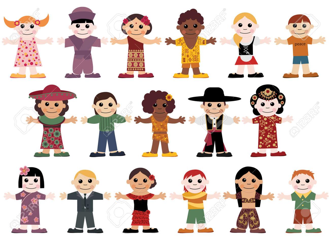 Set of happy children Stock Vector - 9475001
