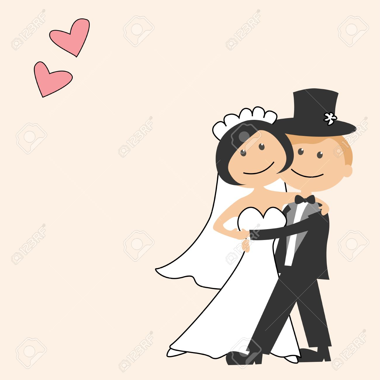Cartoon Bride And Groom Wedding Invitations Bride And Groom Cartoon