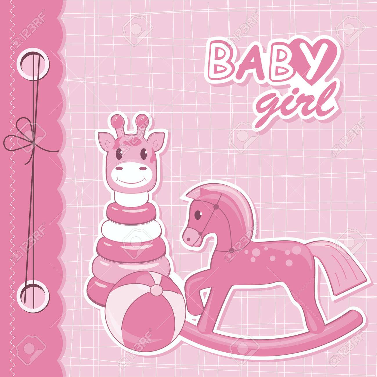 How to scrapbook for baby girl - Vector Vector Baby Girl Scrapbook