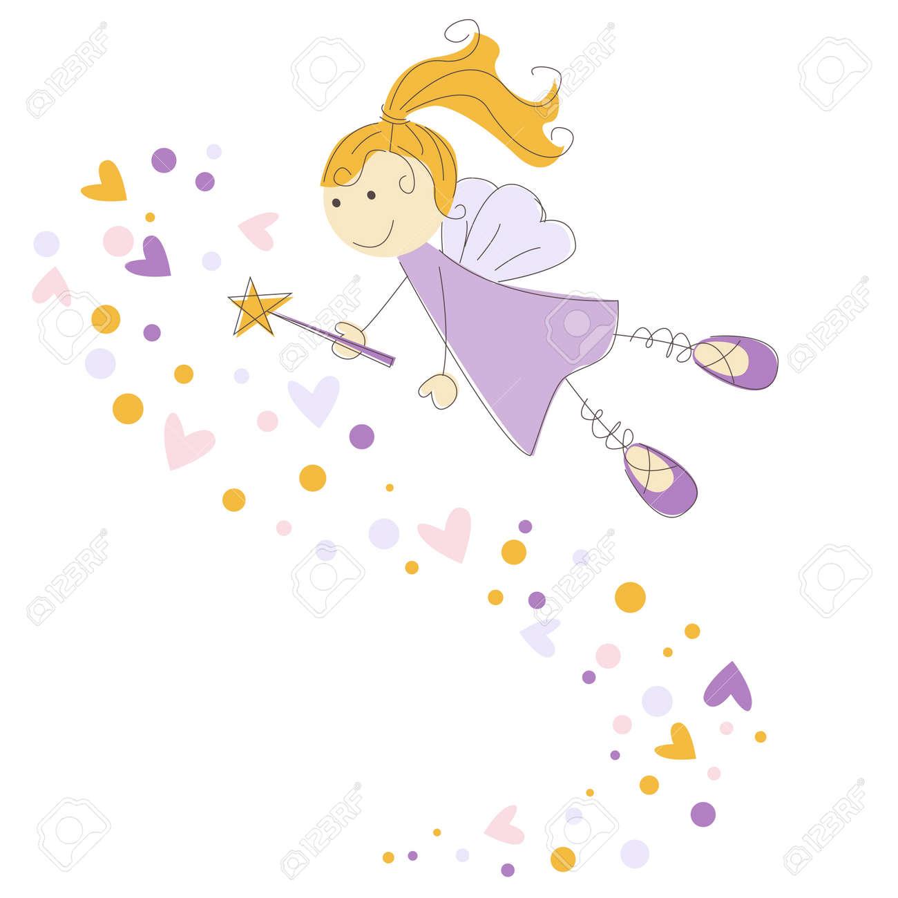 魔法の杖を持つ妖精のイラストのイラスト素材ベクタ Image 13638179
