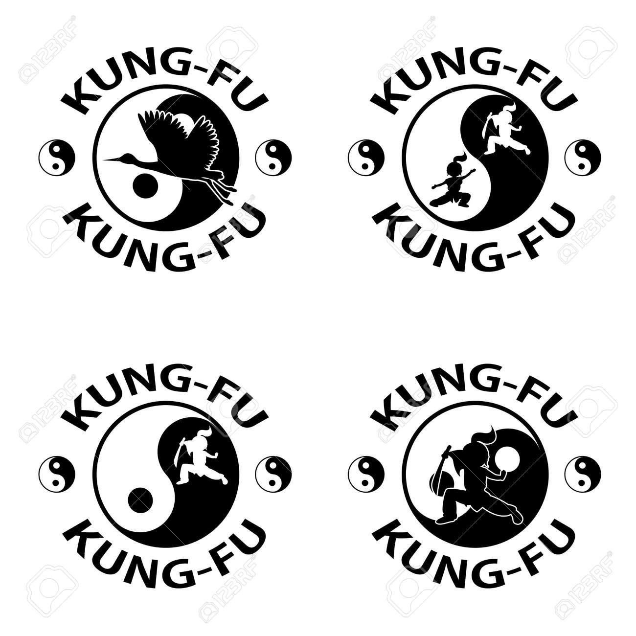 Kung fu logo,  isolated on white background Stock Vector - 15481836