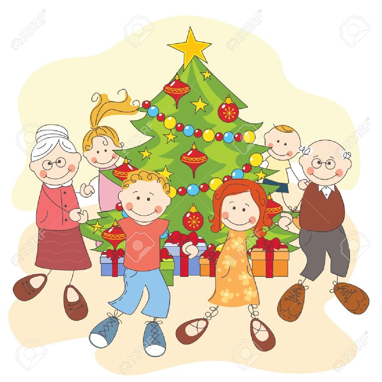http://previews.123rf.com/images/sivanova/sivanova1212/sivanova121200015/16843237-Christmas-Happy-family-dancing-together-Hand-drawing-illustration-Stock-Vector.jpg