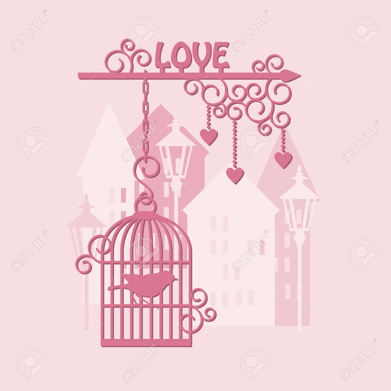 Advertising for lovers, happy valentine s day Stock Vector - 17452919