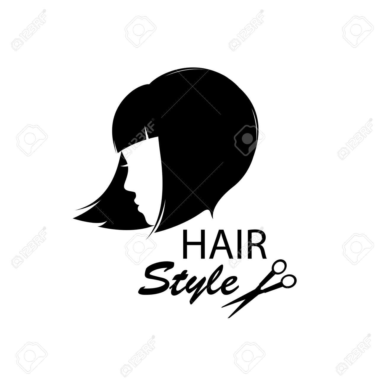 Léments De Conception Pour Salon De Coiffure Femmes Coiffure Noir Et