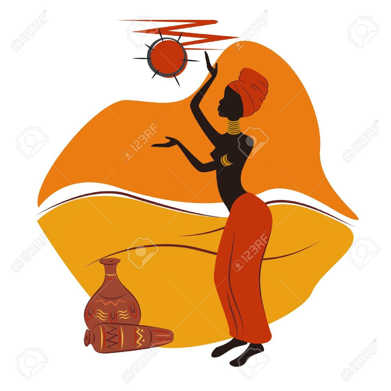 Dessin De Femme Africaine belle conception africaine femme américaine dessin à la main