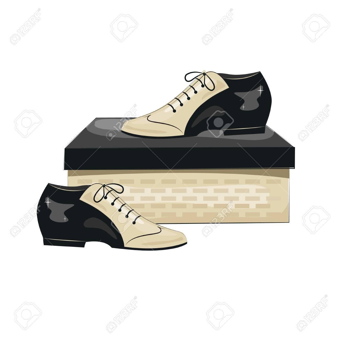 size 40 ca171 efdd0 Scarpe da uomo eleganti è. Argentini scarpe da tango. Illustrazione  vettoriale, isolato su sfondo bianco.