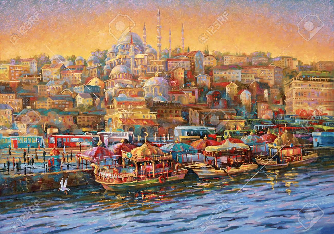 Artwork. Istanbul. Golden Horn Bay. - 102692284
