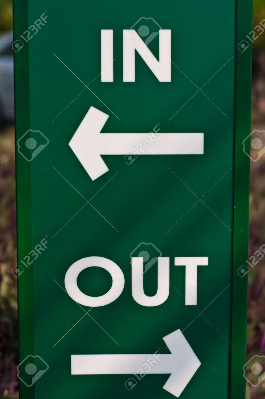 In And Out Symbol Plate Stock Photo, Picture And Royalty Free ...