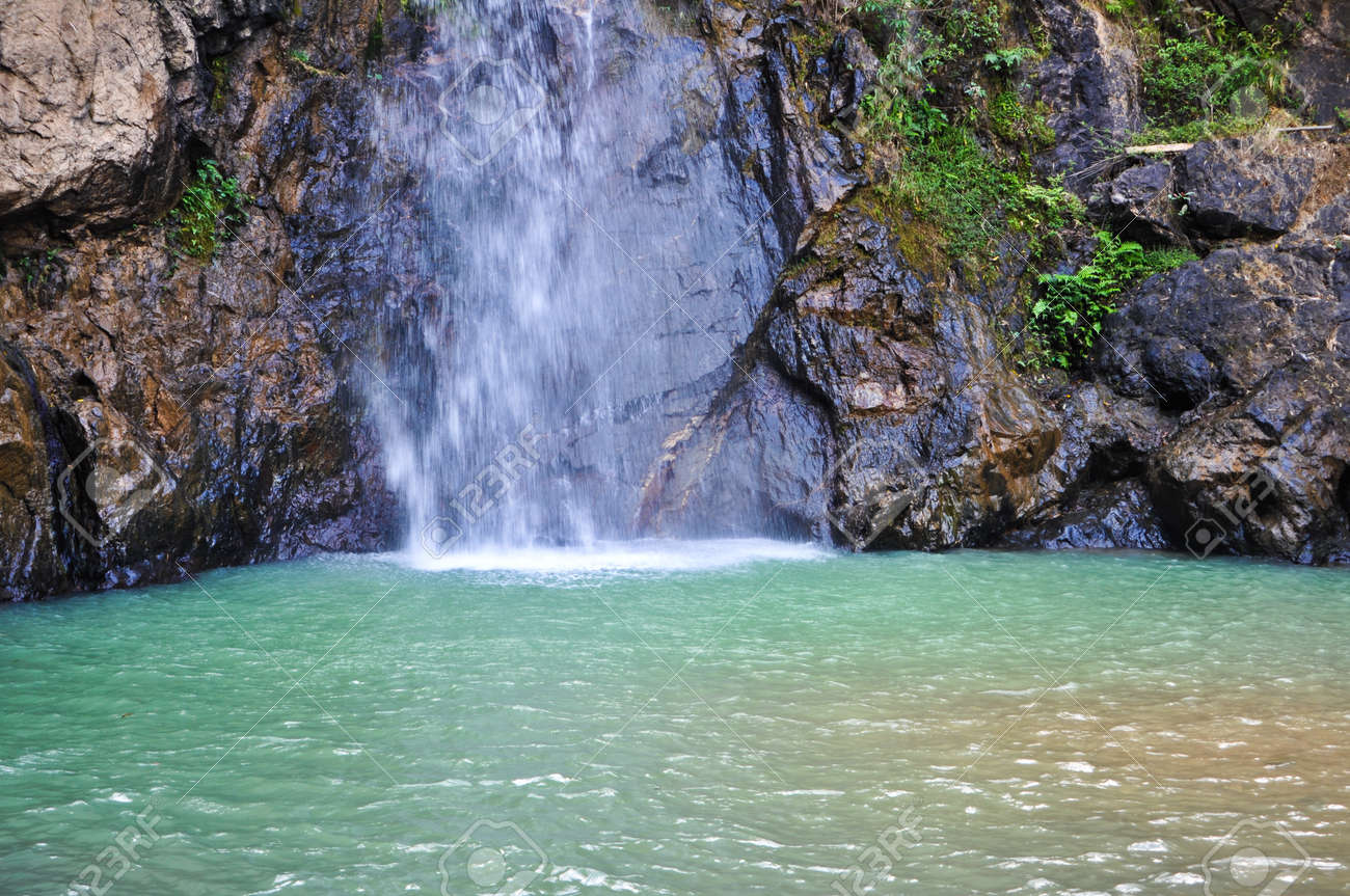 Waterfall ,in Thailand Stock Photo - 12352239