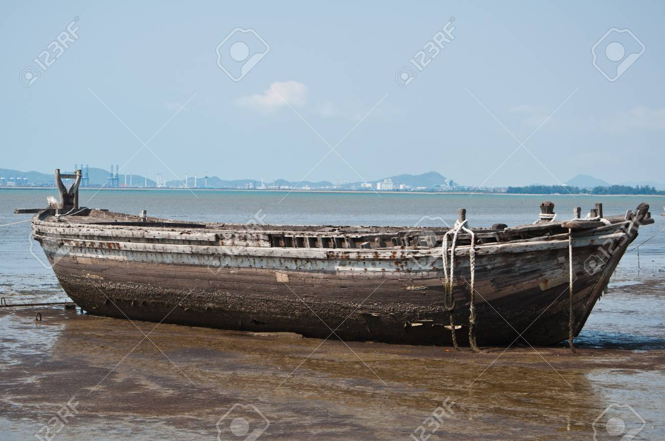 Remains of the large ships on the coast Stock Photo - 12437872
