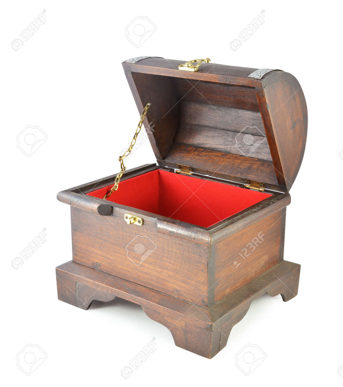 treasure chest isolated on a white background stock photo picture