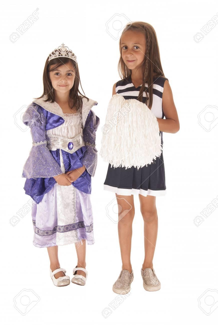 Jóvenes Hermanas Lindos Vestidos Para Halloween