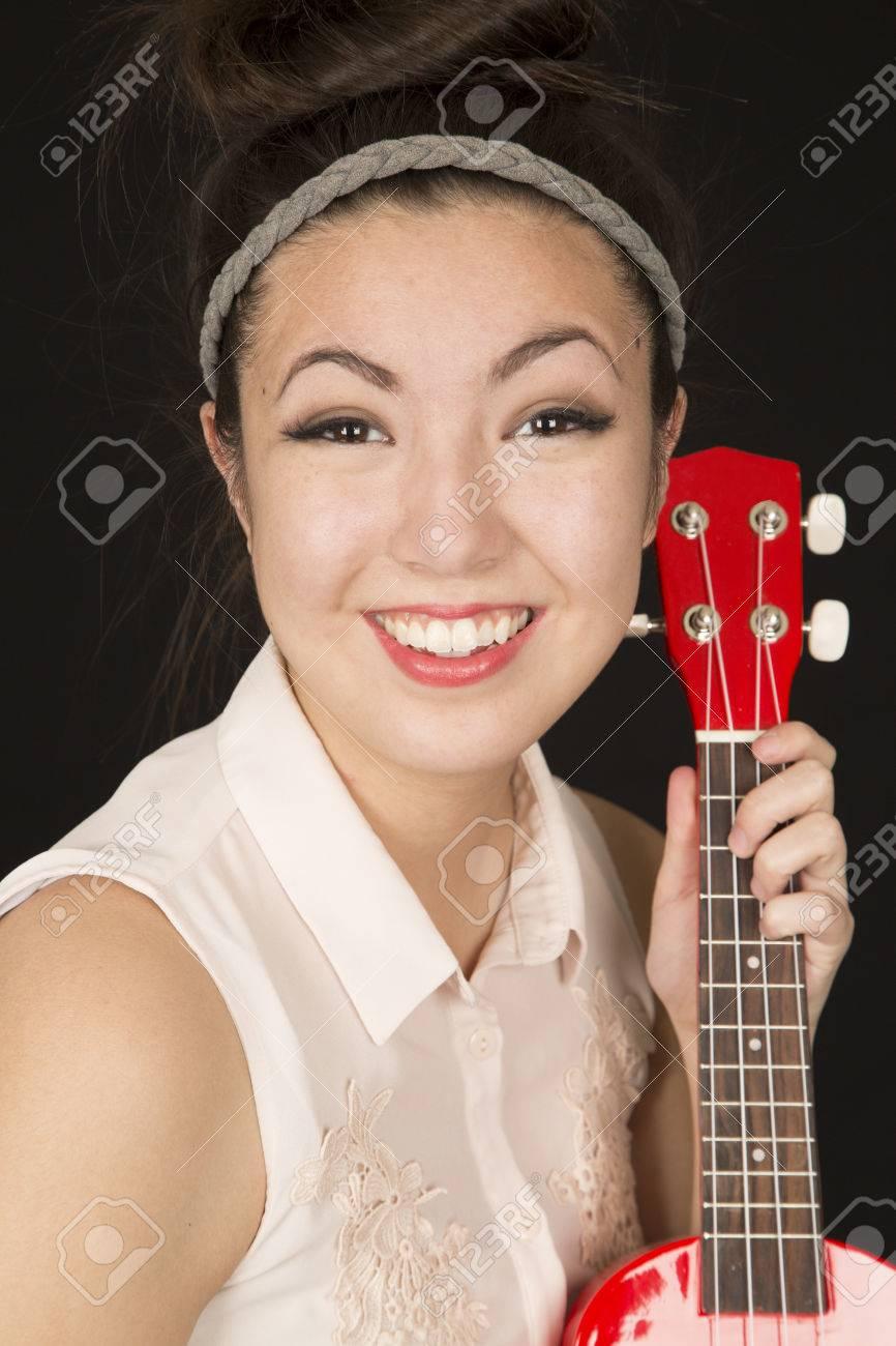 Cute asian american teen girl