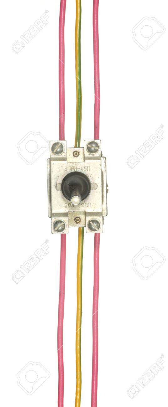 Industrial Electrical Switch With Multi-colored Wires Isolated ...