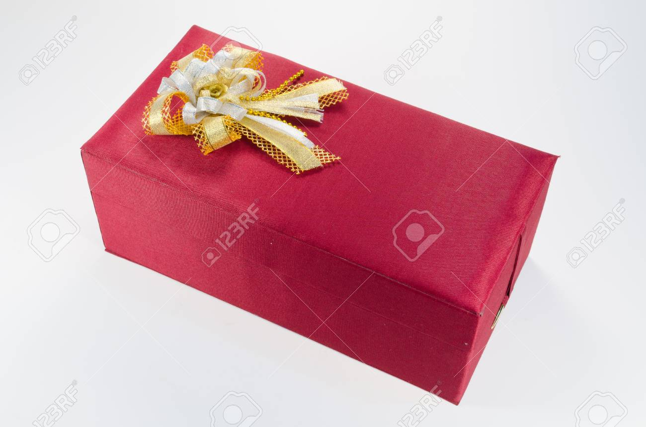 red gift boxes on white background Stock Photo - 14215502