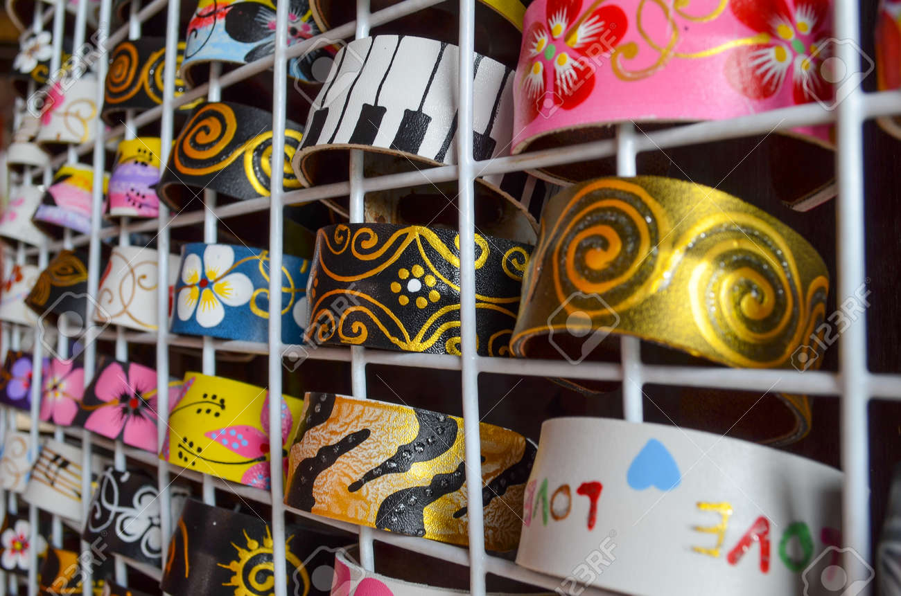 Fashion multi colored bangles Stock Photo - 14648347