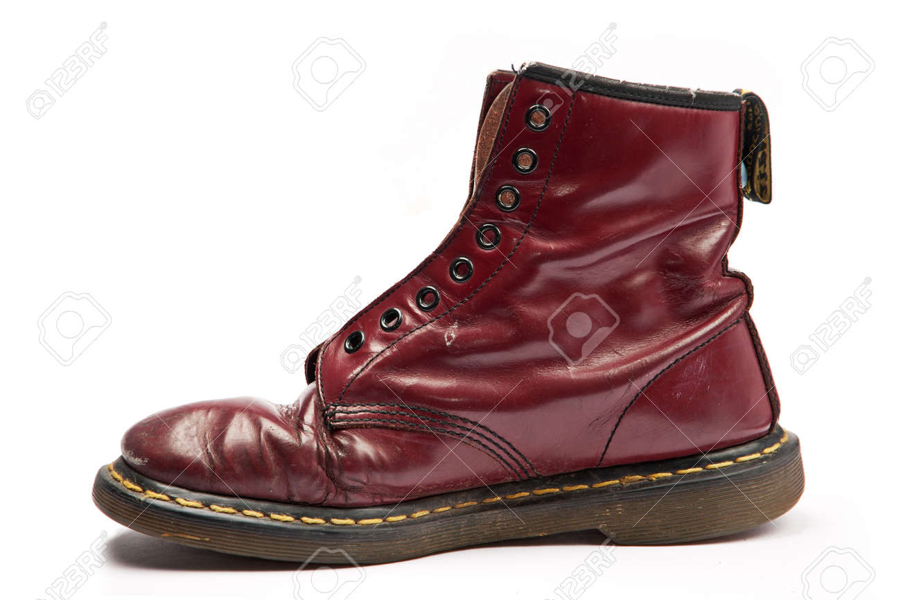 Old Work Boot Without Laces, Isolated