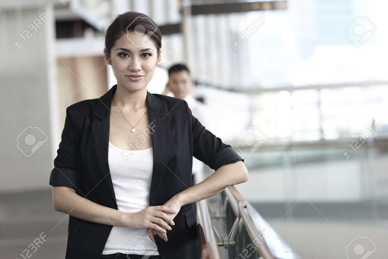 Business woman in a corportate environment Stock Photo - 10322450