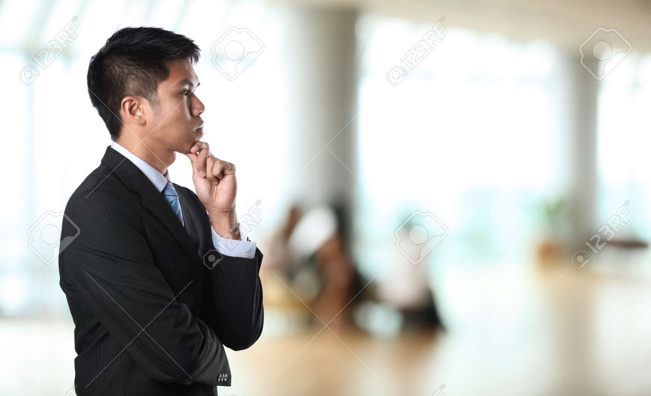 Portrait of an Asian Businessman with background out of focus Stock Photo - 10322466