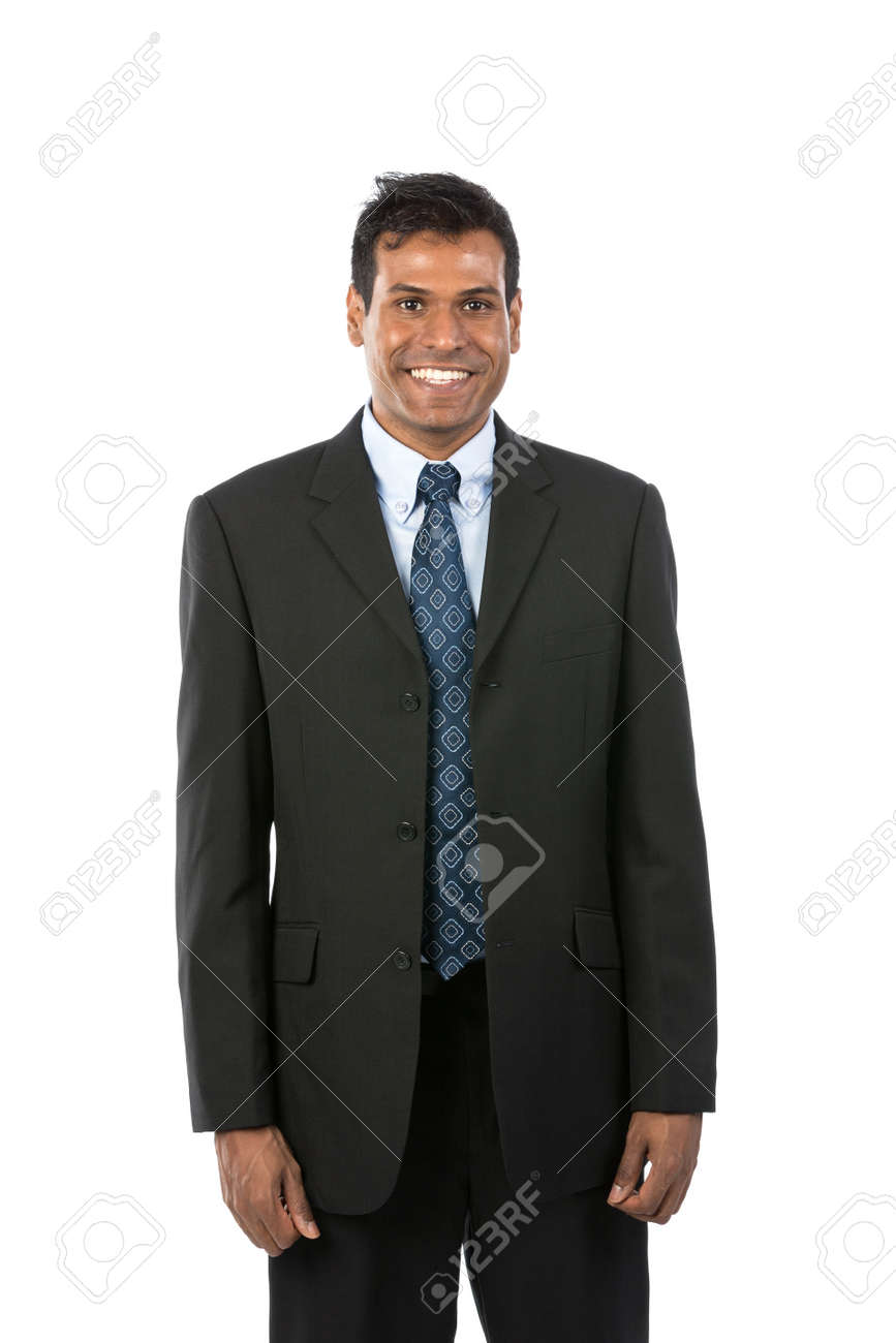 Portrait of a handsome Indian Business man. Isolated on a white background. Stock Photo - 15162852