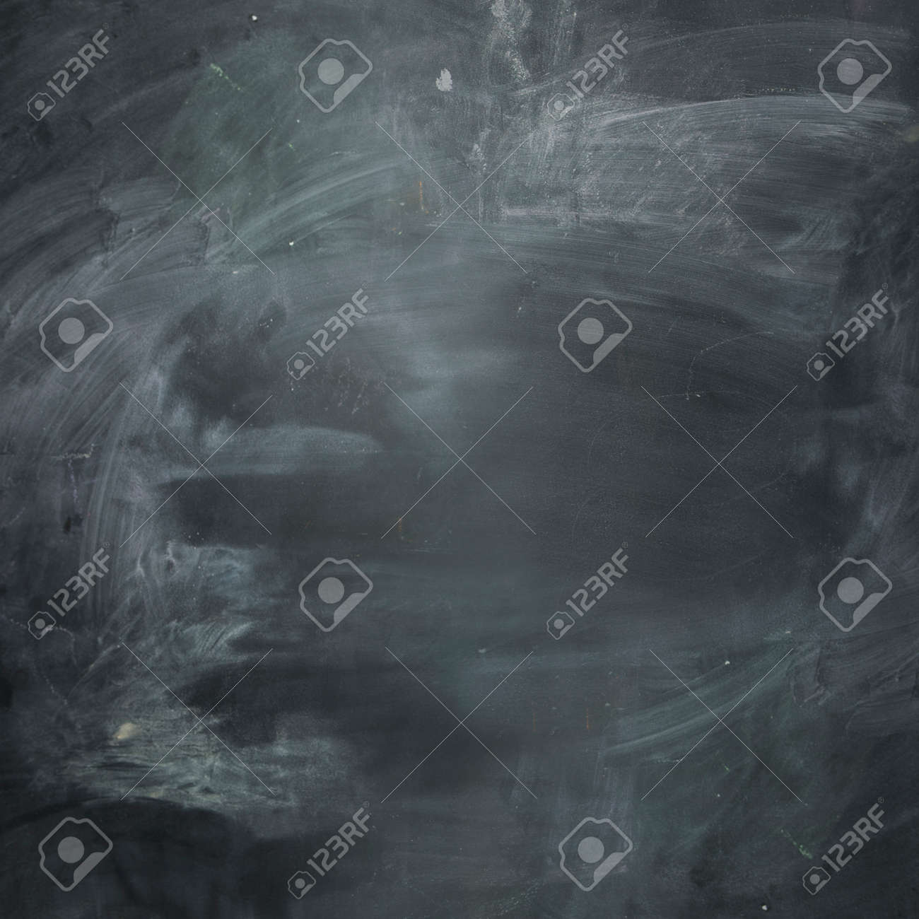 empty dark chalkboard blank and ready for your message stock photo