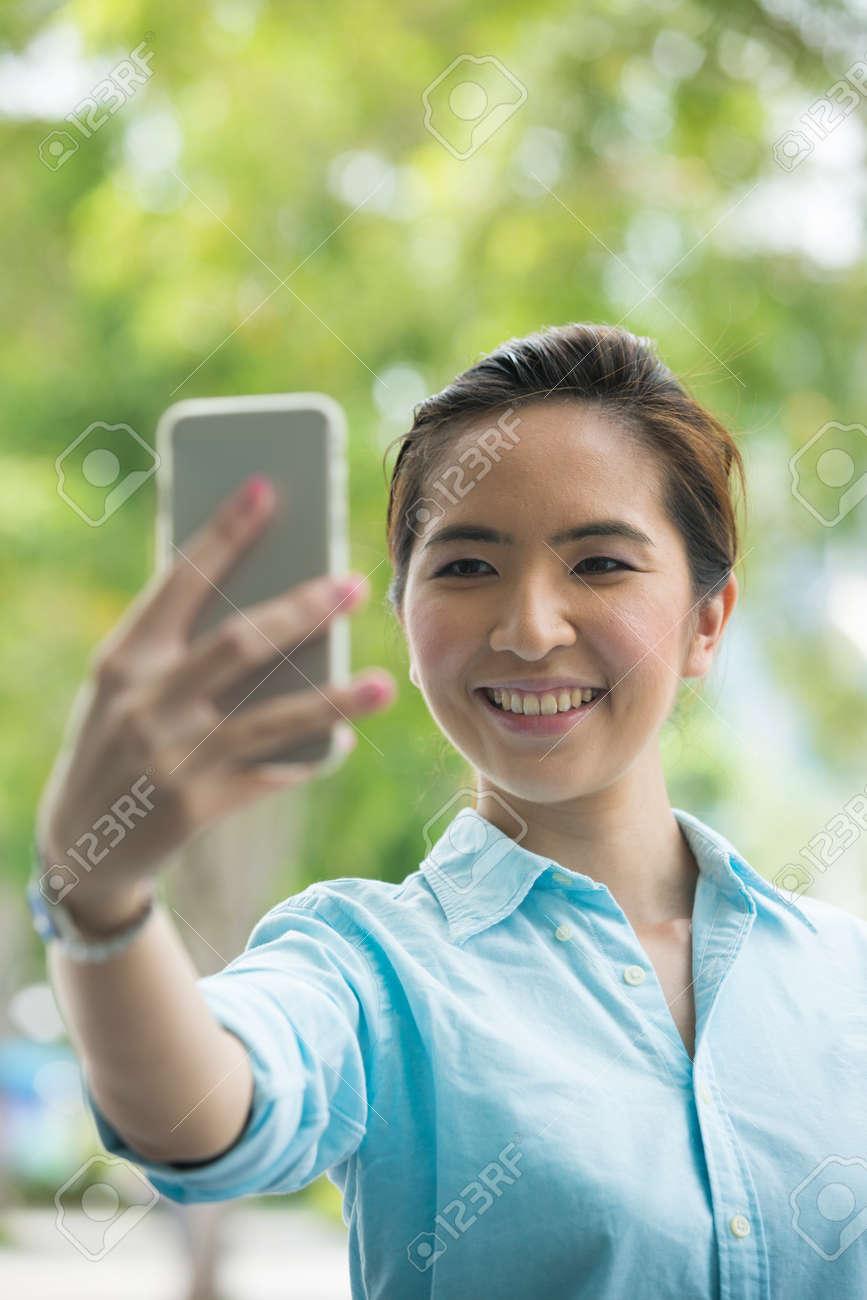 Asian woman photographing street, young teen hardcore cum shots