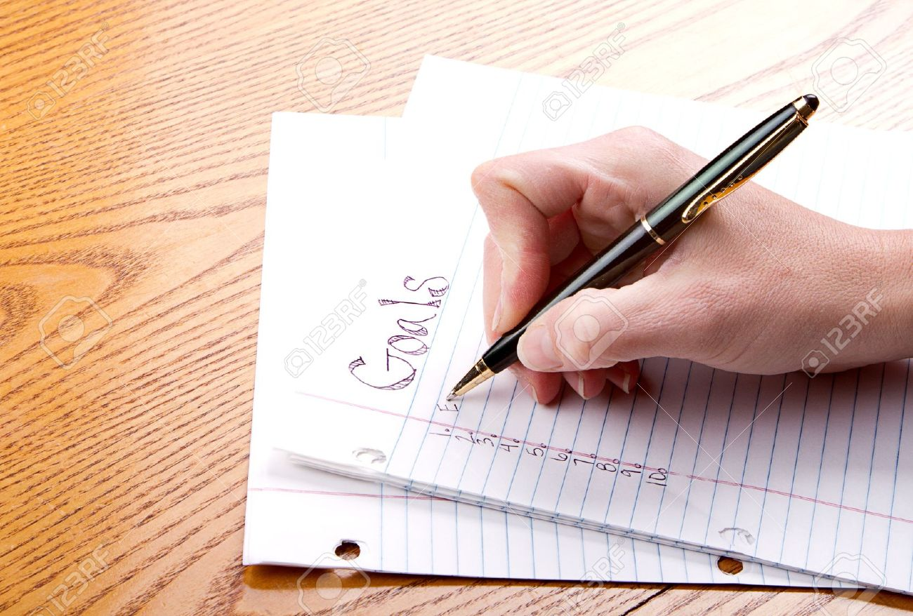 writing on a paper