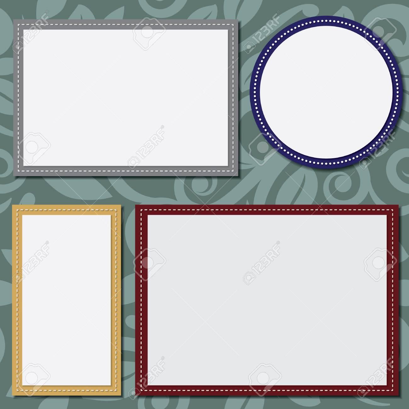 Kreis Und Quadrat-Vorlage Für Text Oder Fotos, Rechtecke 4x6 Und 5x7 ...
