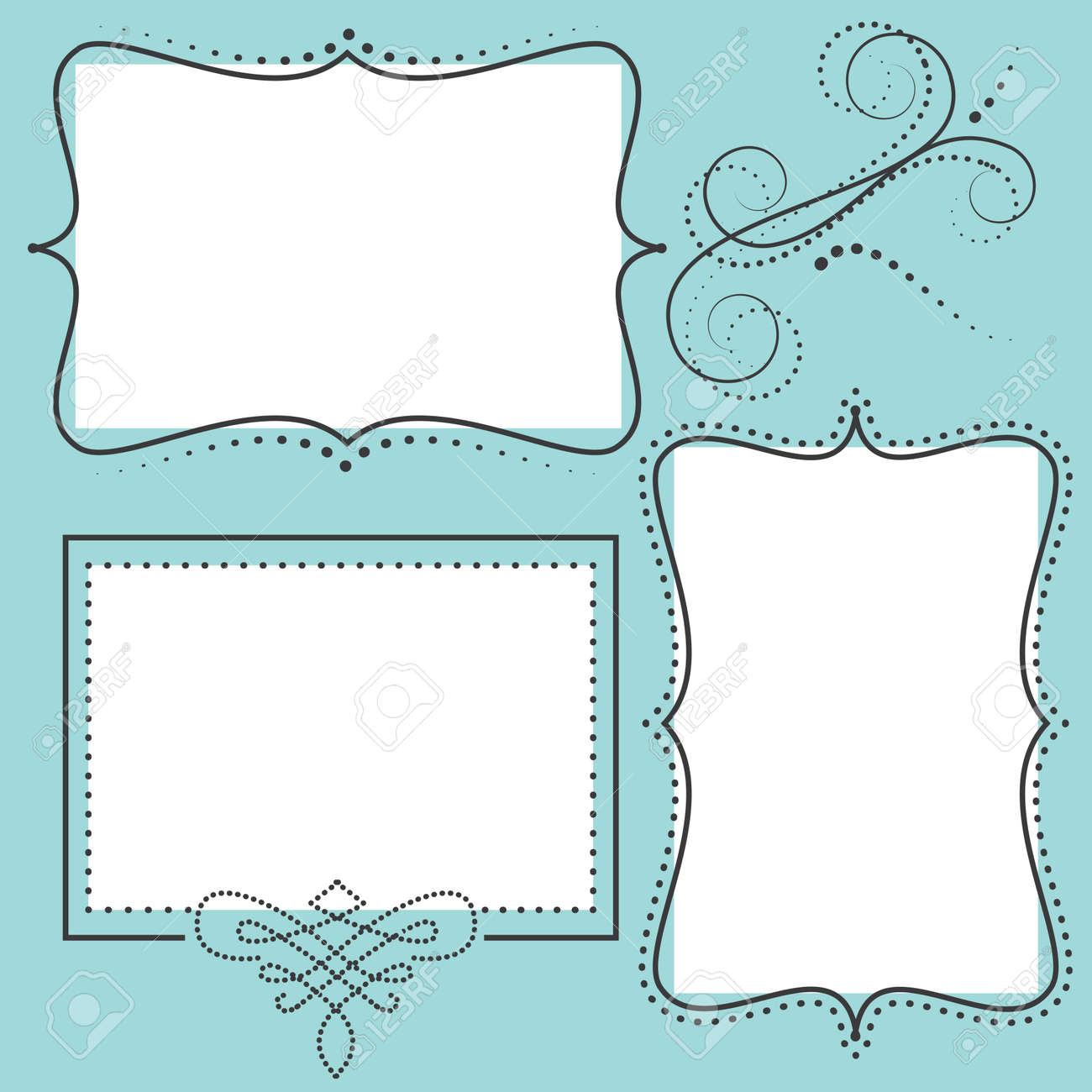 Retro design template with two 4x6 transparent frames for your events, scrapbooking or invitation designs