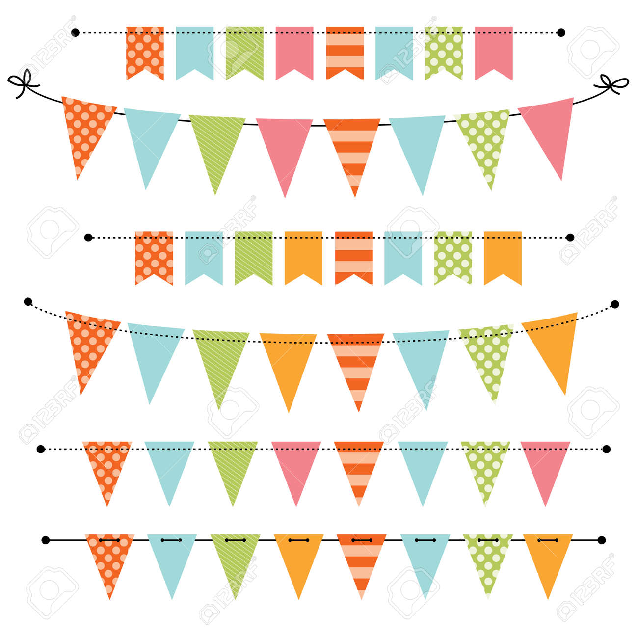 blank banner bunting or swag templates for scrapbooking parties