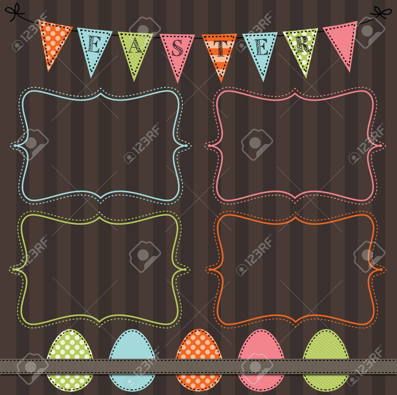 easter design template with four 4x6 frames for your events