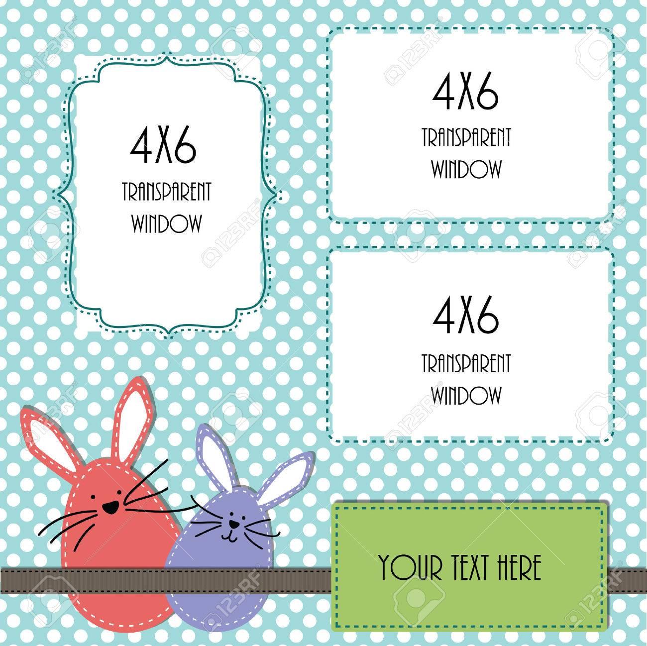 Ostern Design-Vorlage Mit Drei 4x6 Transparenten Rahmen Für Ihre ...