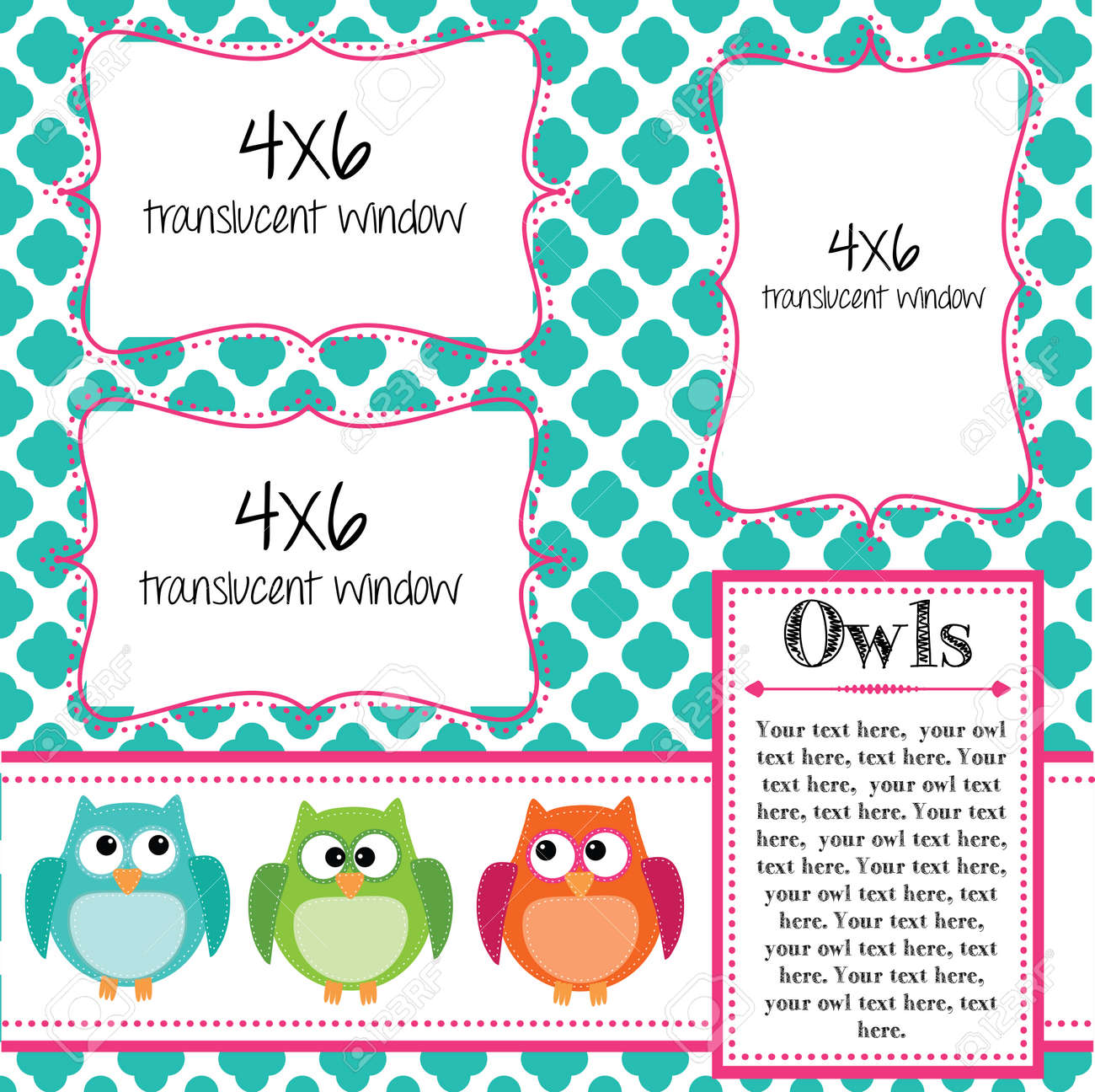 Wonderful 1.5 Inch Circle Template Tall 13 Birthday Invitation Templates Regular 16 Birthday Invitation Templates 2 Binder Spine Template Old 2 Inch Button Template Orange2 Inch Circle Template Owl Scrapbooking Template With Banner Or Bunting And 4x6 Frames ..