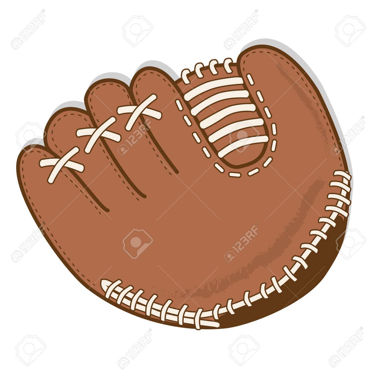 baseball glove or mitt vector on a transparent background royalty rh 123rf com Baseball Clip Art baseball mitt clipart