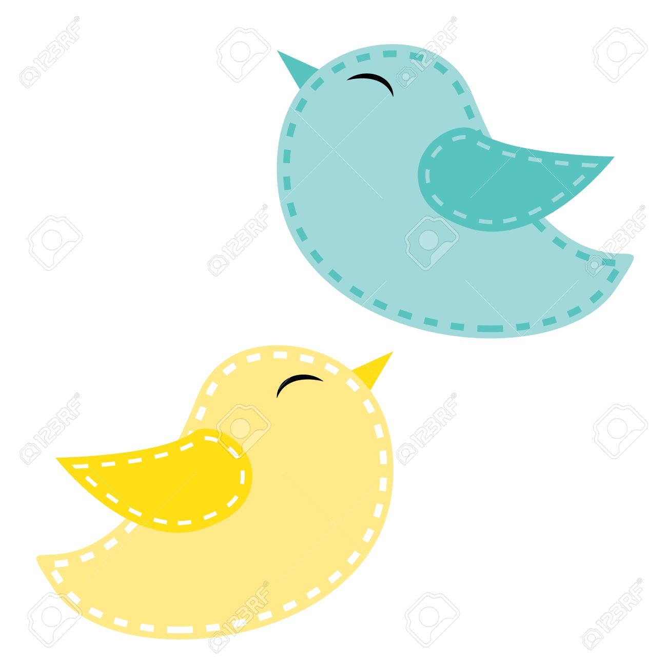 two cute birds blue and yellow on a transparent background rh 123rf com cute bird clipart black and white cute baby bird clipart