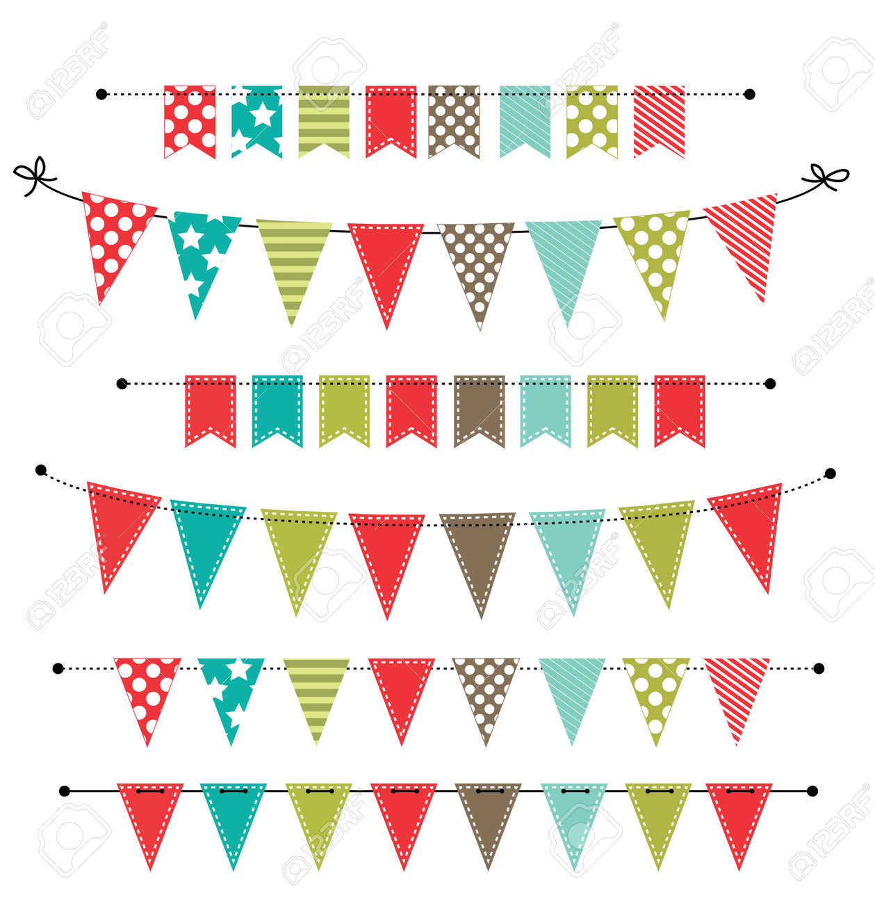 Christmas Banner Bunting Or Flags On Transparent Background Royalty Free Cliparts Vectors And Stock Illustration Image 32360134