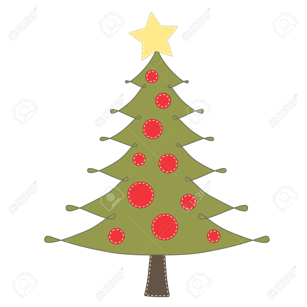 Christmas Tree Clip Art On Transparent Background For Scrapbooking ...