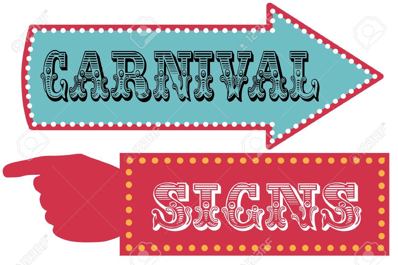 Carnaval Señales De Dirección Plantilla De Cartel Con La Flecha Y La ...