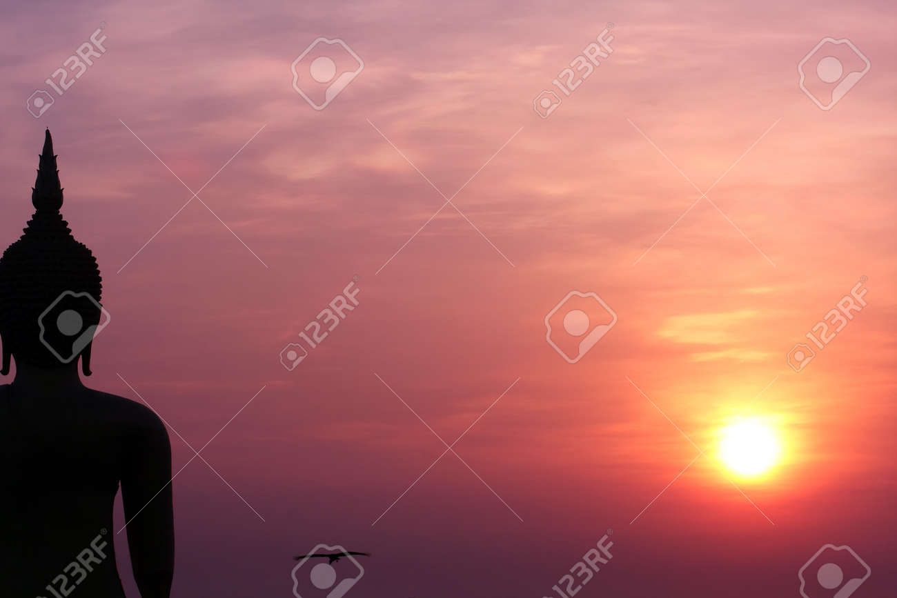 One Of The World Biggest Buddha Image With Sunrising, AngThong-Thailand Stock Photo - 7301425