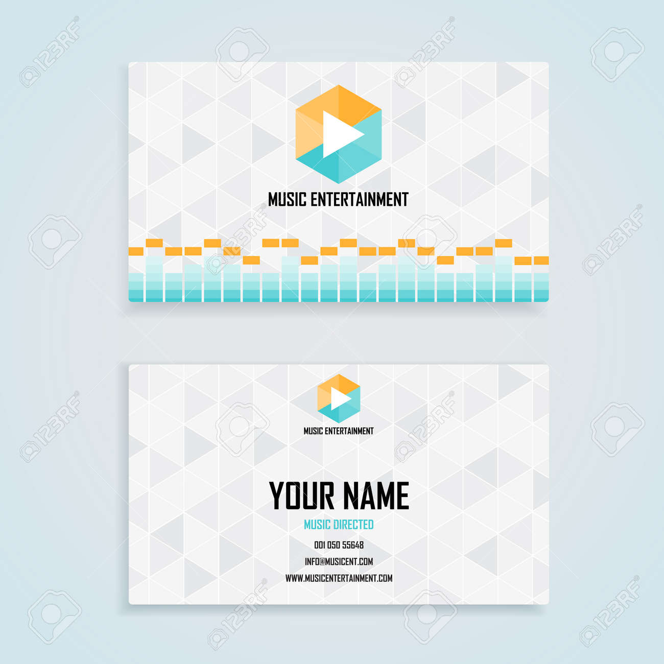 Music entertainment name card template business name card design music entertainment name card template business name card design set stock vector 45709620 accmission