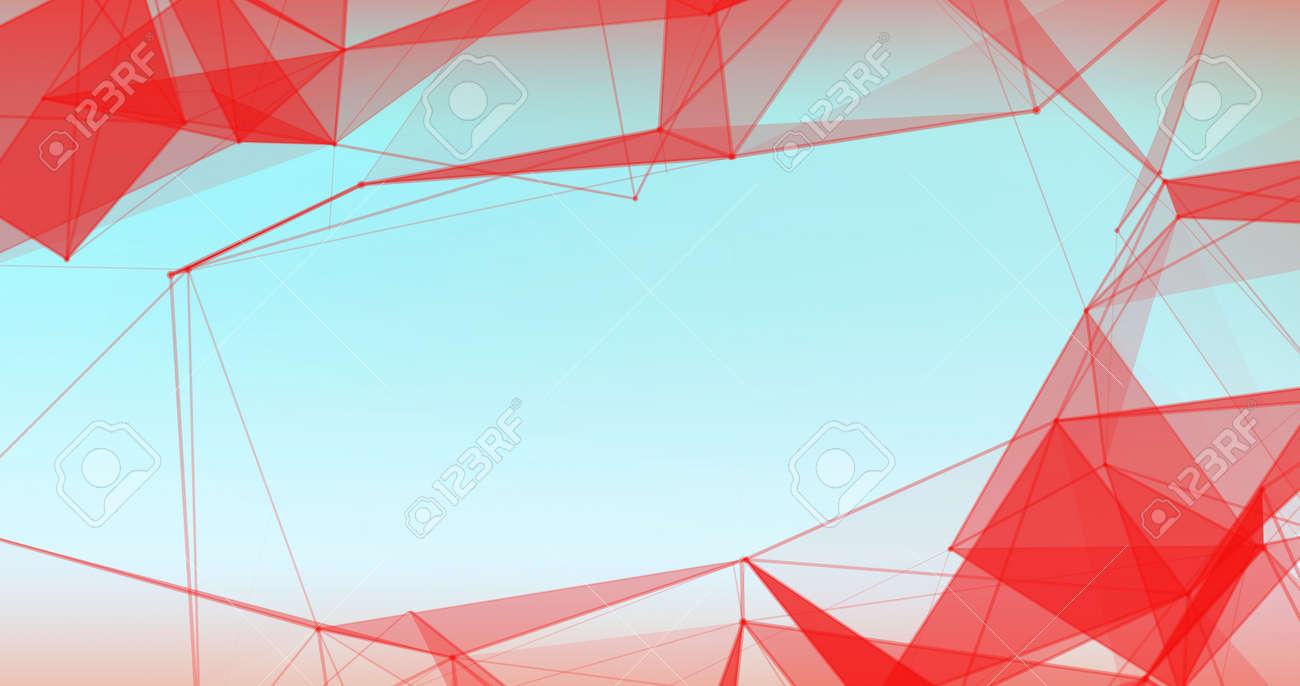 Abstract Plexus Background. Hi Tech Digital poligons texture. - 120495931