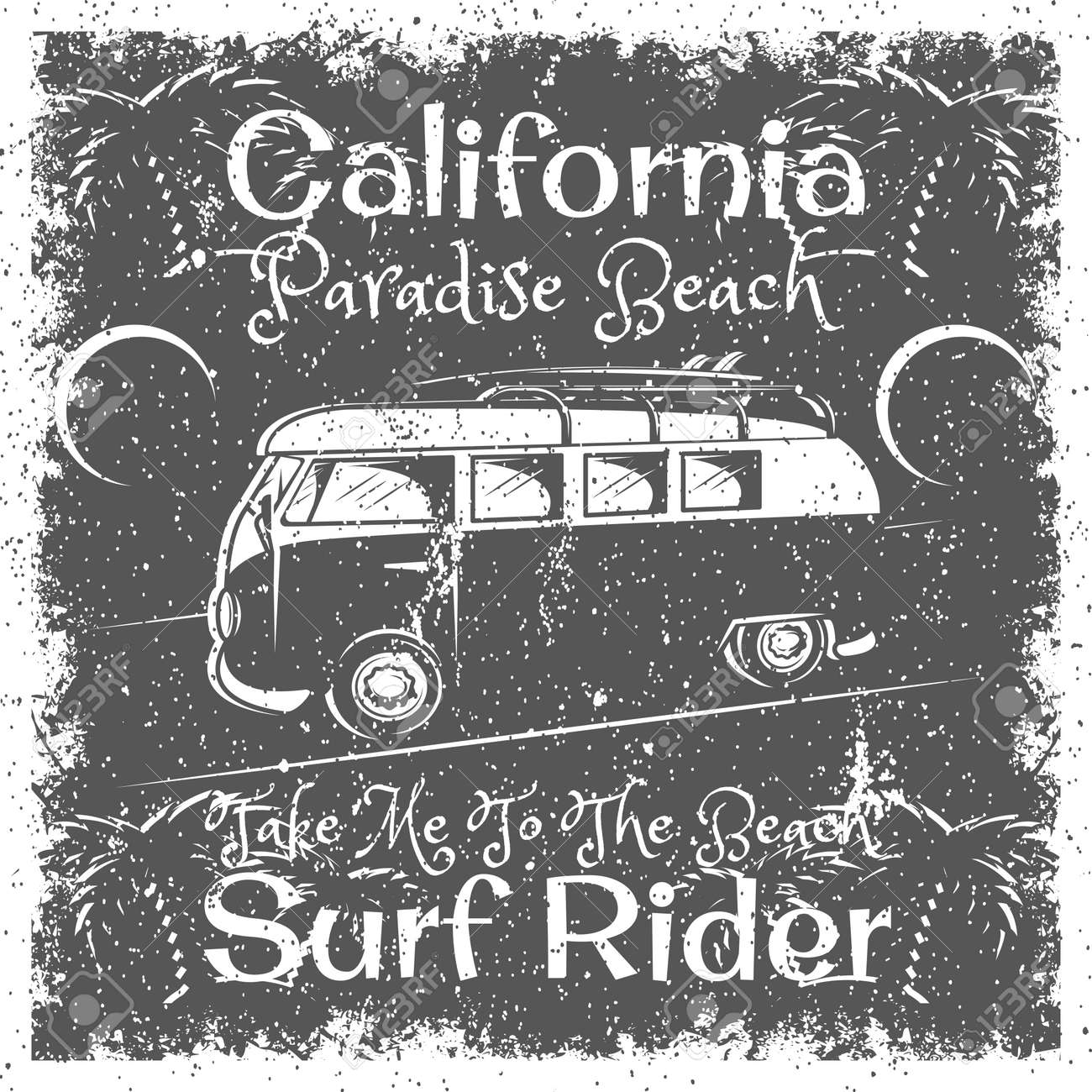 b116d540 Vector - Vintage California Beach poster. Surf Rider typography for print, t -shirt, tee design.