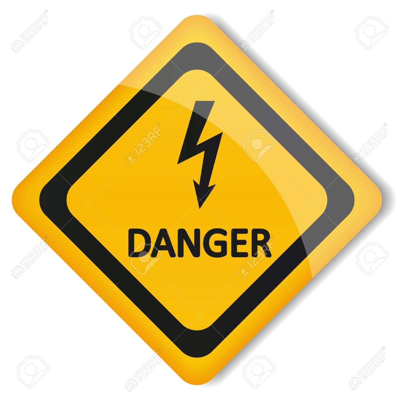 illustration label electricity hazard Stock Vector - 19870265