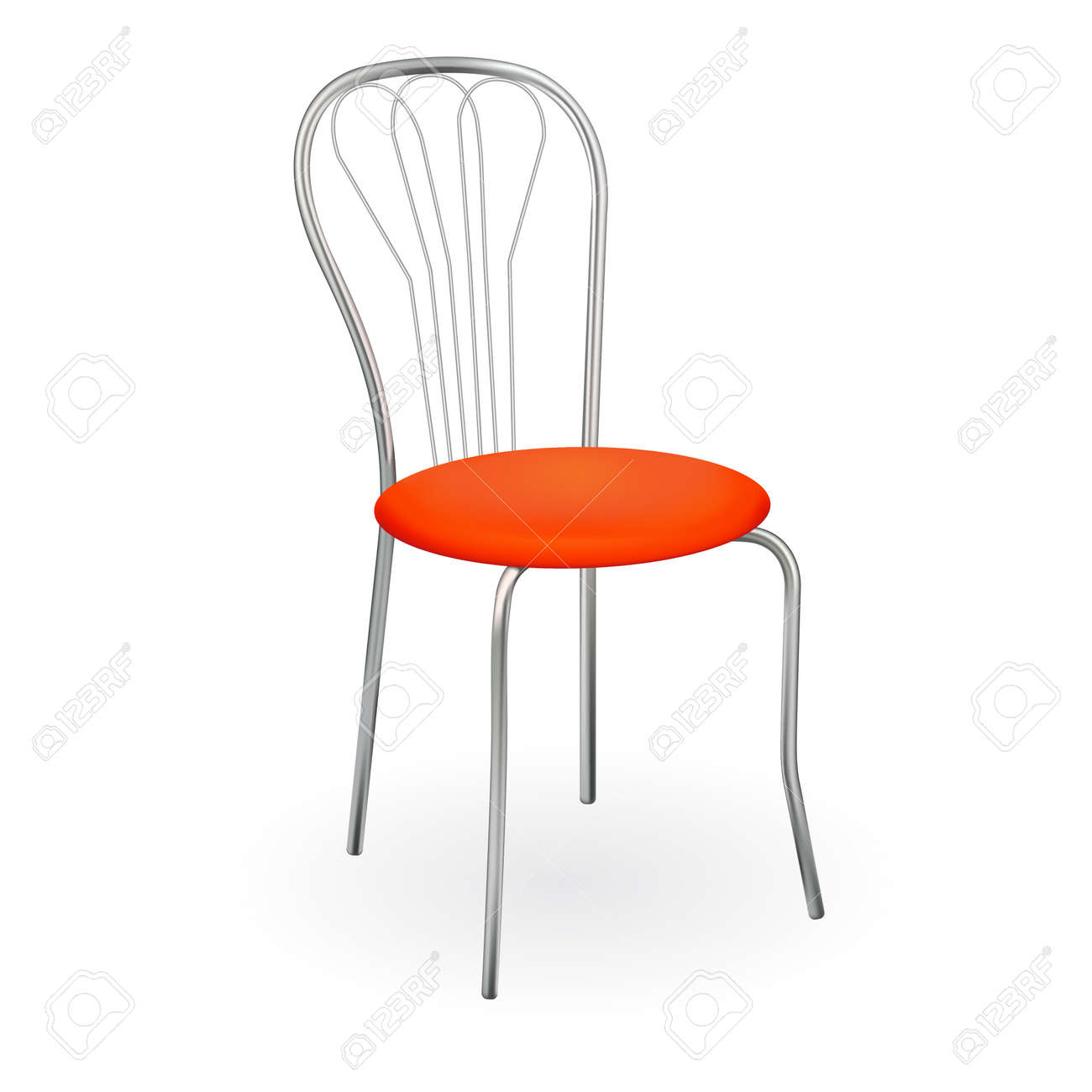 Realistic chair isolated on white for design illustration. Stock Vector - 19856229