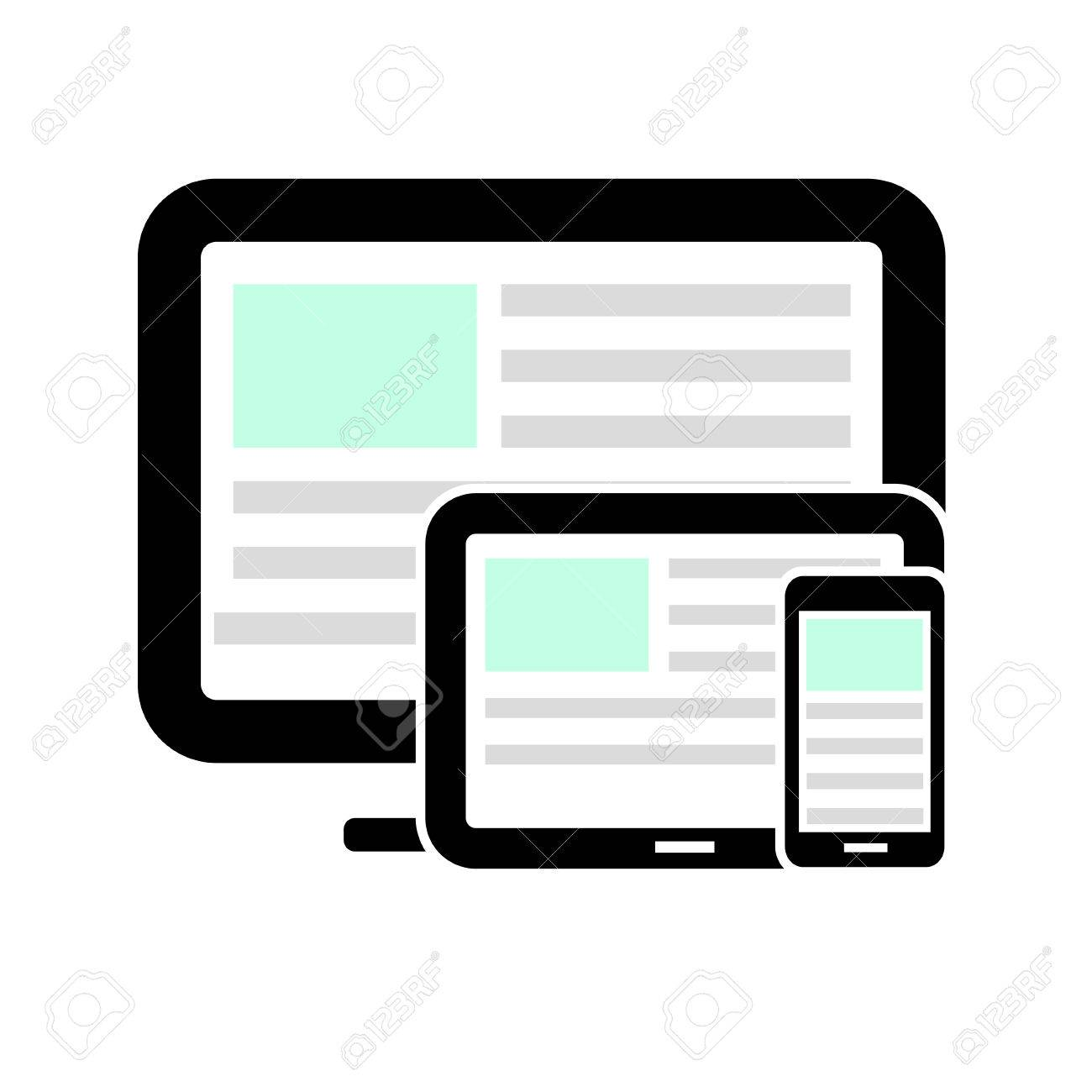 Display, tablet computer and mobile phone. Stock Vector - 22811410