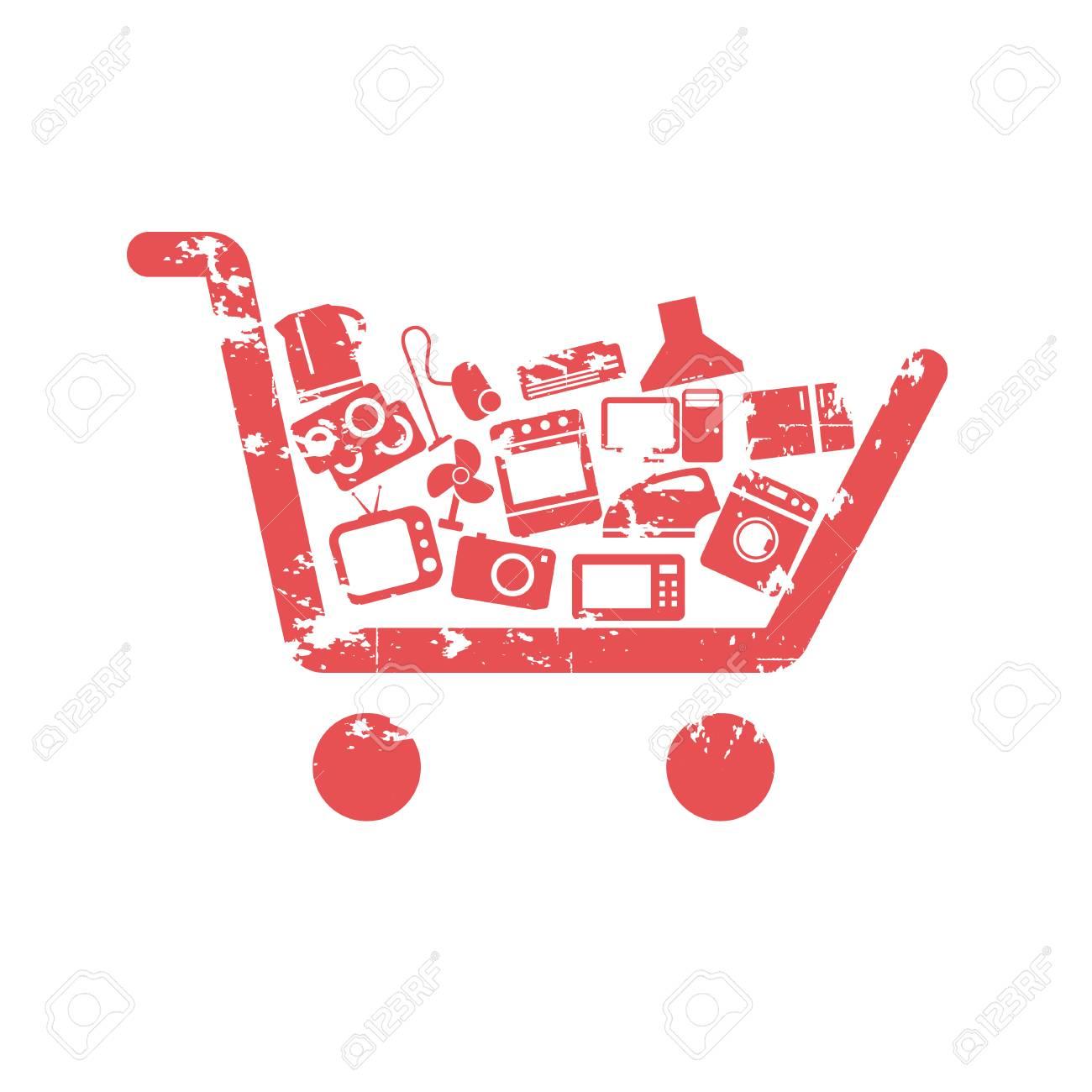 Shopping cart concepts Stock Vector - 23087460