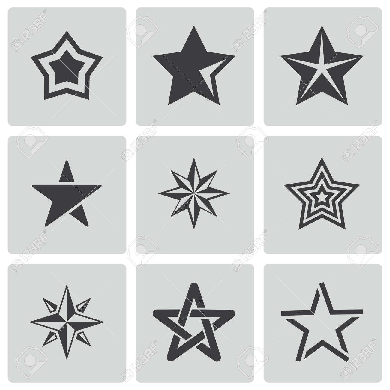 Schwarze Sterne aus Weiß