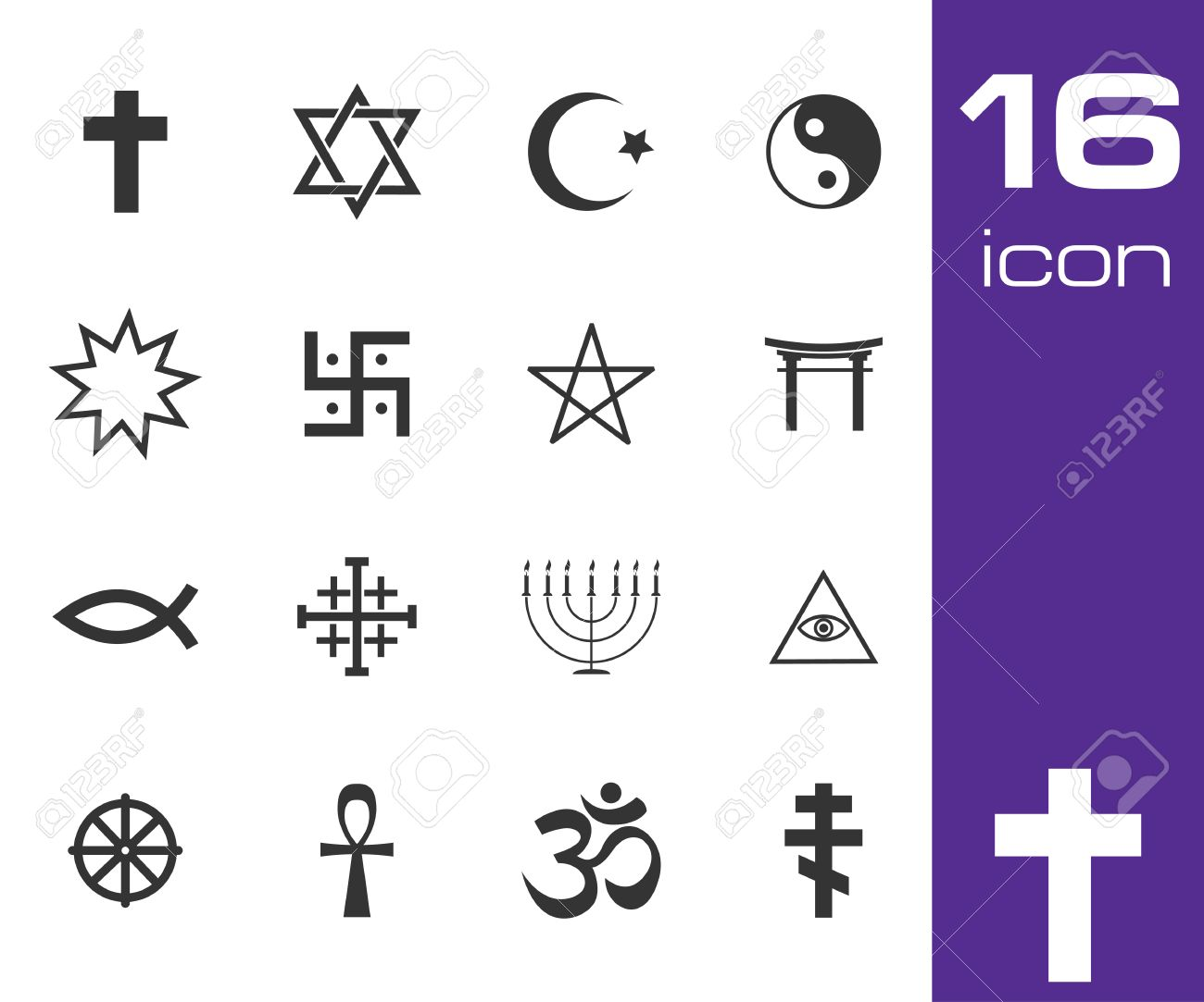 68016 religious symbols stock illustrations cliparts and royalty vector black religious symbols set on white background biocorpaavc