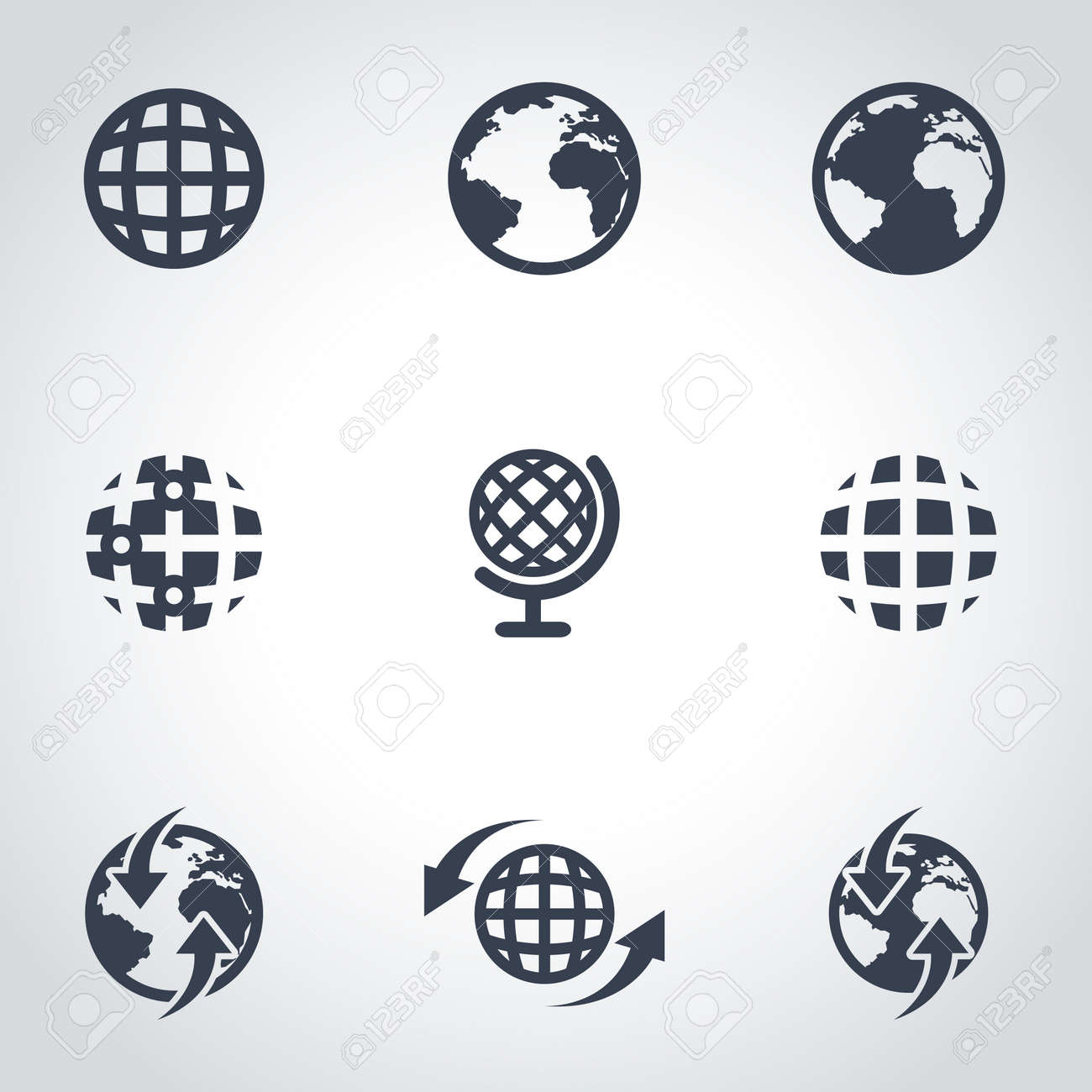 Vector black world map icon set world map icon object world vector vector black world map icon set world map icon object world map icon picture world map icon image world map icon graphic world map icon jpg gumiabroncs Images